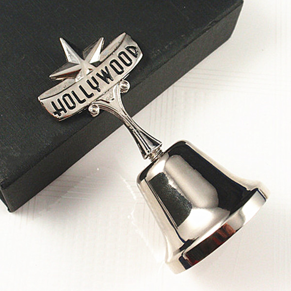 Metal table bell with Hollywood logo