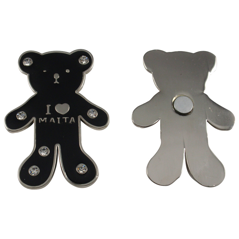 Bear shaped Metal fridge magnet